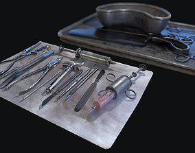 3D asset Old Surgical Tools
