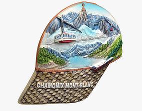 3D printable model Chamonix Mont-Blanc Magnet Souvenir
