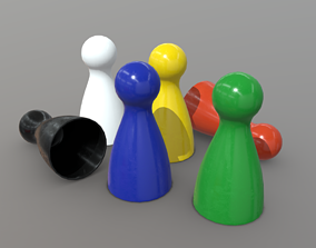 3D asset Board Game Pawns