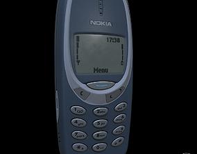 retro Nokia 3310 Pbr highpoly 3D model