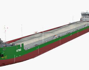 Combined platform tanker Ship 140m 3D harbor