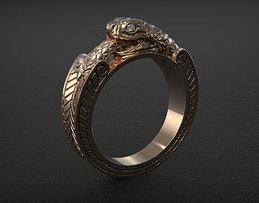 Ouroboros ring gold 3D print model