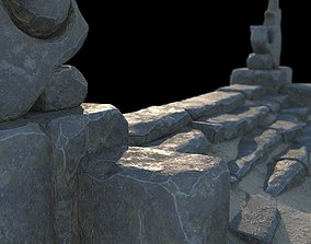 Fantasy stone stairs 3D