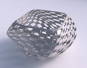 3D printable model Bowl helix with checker grid lattice