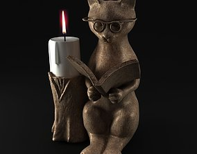 3D Cat Candle Holder