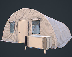 Modern Military Tent Videogame Asset 3D model