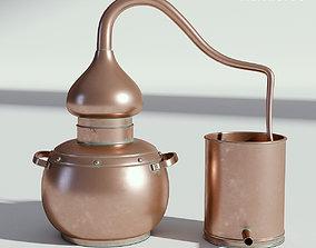 3D model Copper Distiller Vintage copper-ware