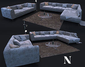 Sofa in modern style NATUZZI Trevi 2902 3D model