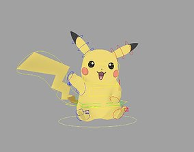 rigged Pikachu 3D Rig with Controls