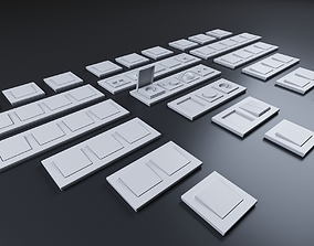 switches 3D model low-poly