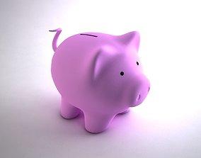 low piggy Bank 3D model