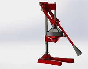 3D Mechanical citrus juicer - SolidWorks