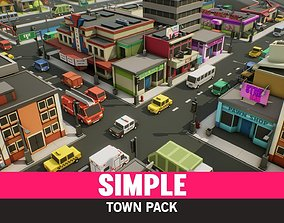 Simple Town - Cartoon Assets low-poly