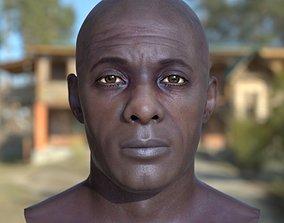 realtime 3d model Idris Elba head V2