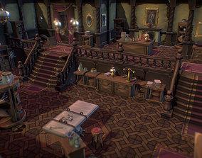 3D asset VR / AR ready Haunted Mansion Set