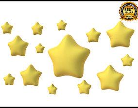 3D model Round stars