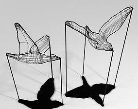 Flight Shadows - decore sculpture by Artem 3D asset