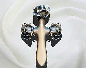 3D print model Flower Rose Cross