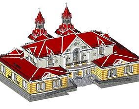 Russian Train Station 3D model