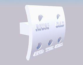 Family Toothbrush Holder 3D printable model
