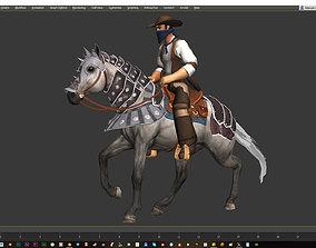 Horse Animset 3D asset