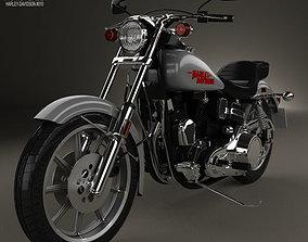 3D model Harley-Davidson FXS Low Rider 1980