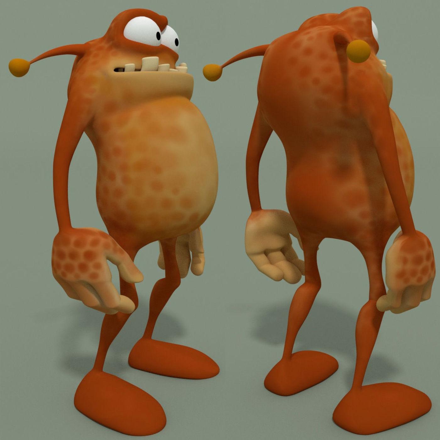 Animated Cartoon Monster A