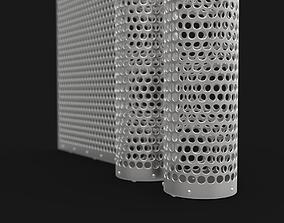 3D model machine metal grate