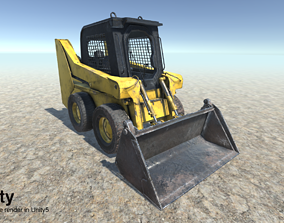 Work Machine Excavator bulldozer 3D model