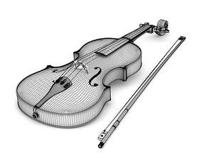 Violin 3D model violin