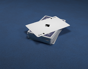 36 Russian playing cards 3D model low-poly