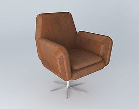 3D model Brown armchair ANDREWS houses the world