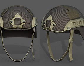 3D model Helmet scifi military combat soldier armor