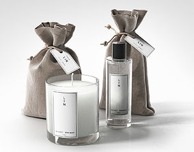 3D Pouches Soy Candle and Bottle
