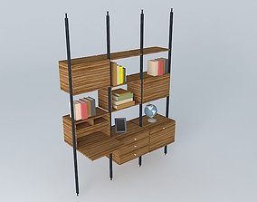 shelves section.SU 3D model.