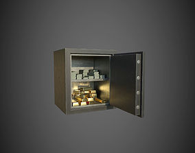 Safe With Gold and Money 3D asset