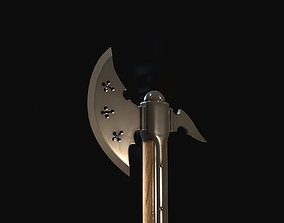 3D asset Knight axe