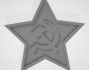3D print model Soviet Red Army 1936 Cap Badge