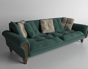 3D model Sofa with pillows