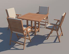 Outdoor Table and Chairs 3D model