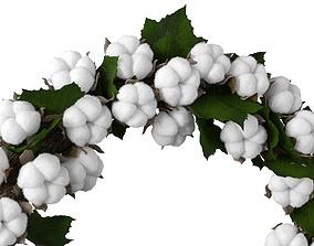 3D model Cotton wreath