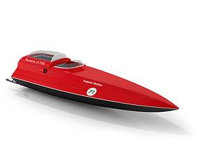 3D Red Speed Boat