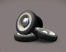 Car wheels ZAZ-965 3D asset low-poly