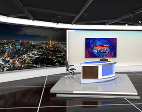 3D model real TV Studio
