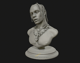 Travis Scott 3D sculpture ready to 3D print