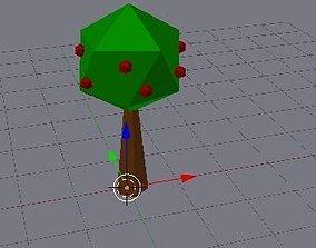 3D asset plain apple tree
