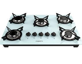 Fogatti Cooktop 5 Burners V500 X White 3D