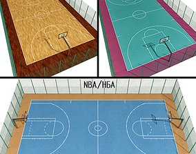 3D Basketball Courts