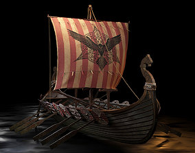 Viking boat - viking ship- longship 3D