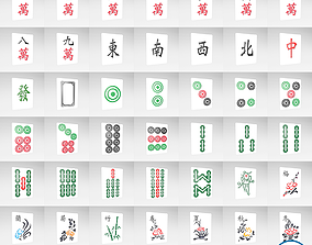 3D model Mahjong V1 Mega Pack